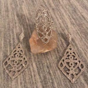 Nadri beautiful combination of ring / earrings 💎